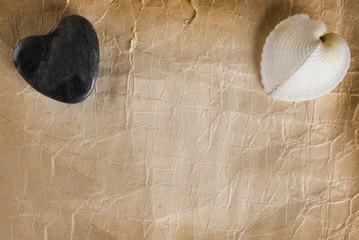 Corazones y Papel Antiguo