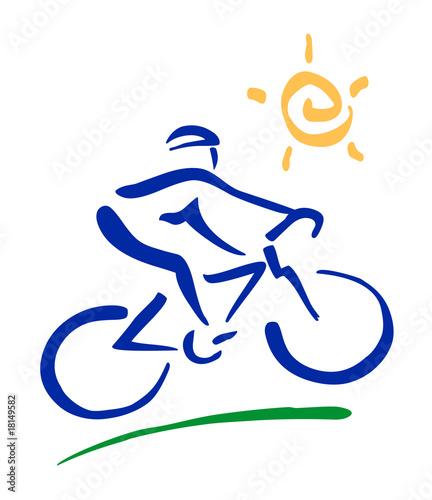 Ciclista Stilizzato Pennellate Immagini E Vettoriali Royalty Free