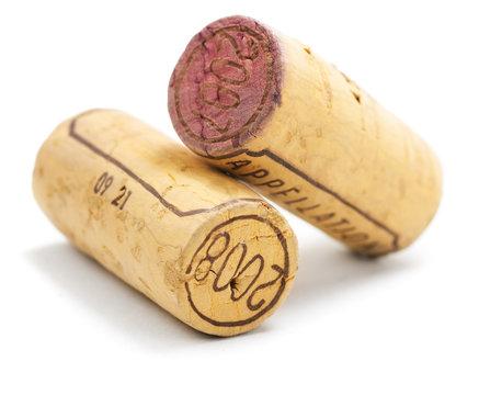 bouchon en liège de bouteille de vin rouge français