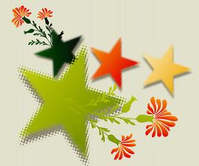 Fine Art colored stars