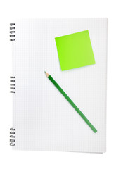 Note book with sticker