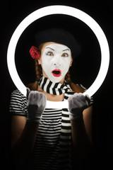 Mime portrait.