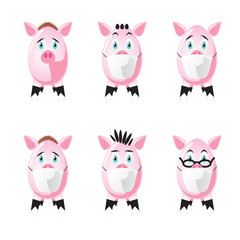 Pigs in protection face mask