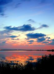 la orilla del lago