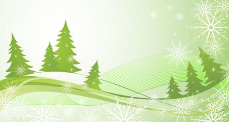 Winter green background