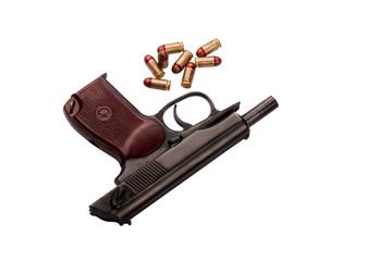 makarov pistol with bullets