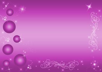 Christbaumkugeln mit Ornamente, Sterne und Glitter