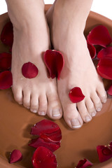Feet in a foot bath
