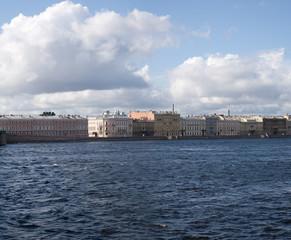 Neva river at St. Petersburg, Russia