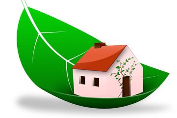 Icône maison verte