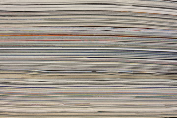 stack of colorful magazines - background