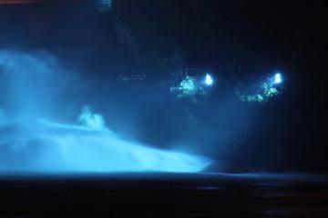 Rheinfälle in Schaffhausen in der Schweiz bei Nacht