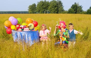 birthday in field