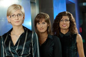 Happy businesswomen