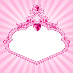 Canvas Prints Fairytale World Princess pink frame