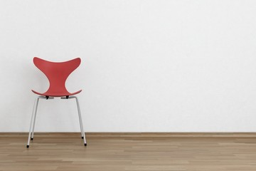 Chair to face a blank wall