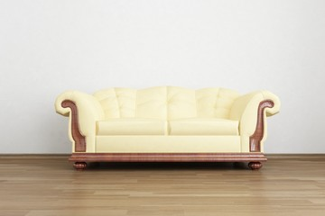 Couch to face a blank wall