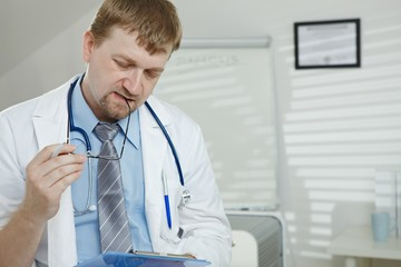 Male doctor working
