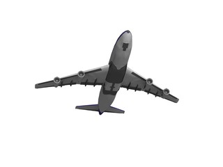 jet airplane isolated on white