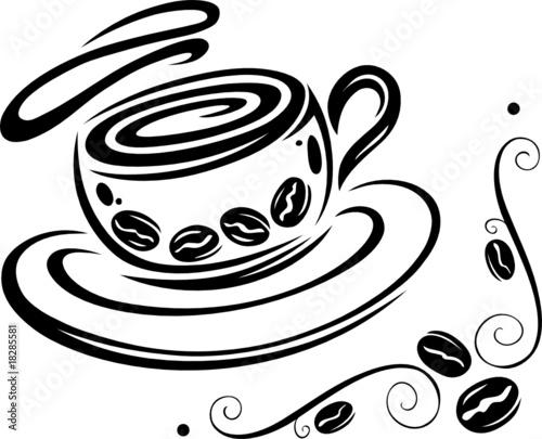 coffee cup, Kaffee, Kaffeetasse, Tasse, Kaffeebohnen\