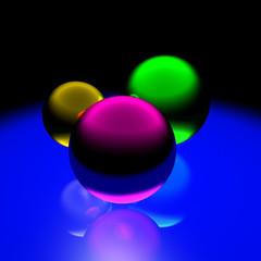 Three xmas balls