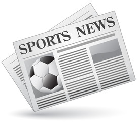 Sports news concept. Vector illustration of sports news icon.