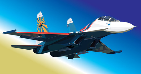 Aluminium Prints Military Flanker