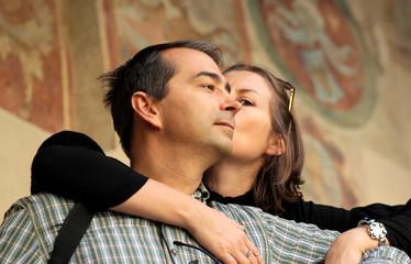 couple au musée toscan