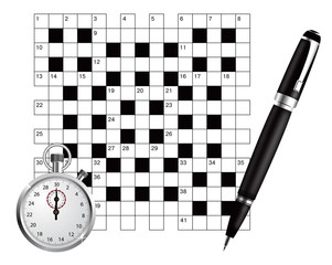 A blank crossword vector