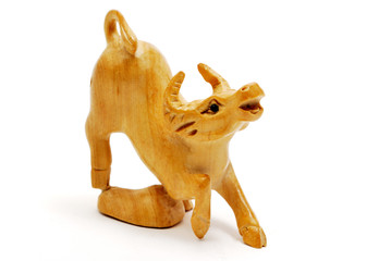 Wooden cow - calf - bull -  horoscope, Chinese, zodiac