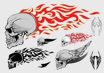 Skull profile design elements