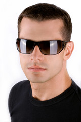 Attractive young man with Sunglasses
