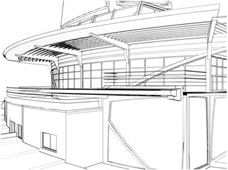 Abstract Construction Of The Ship Building Vector 08