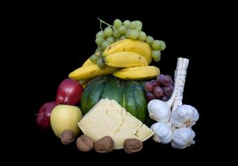 Composizione Di Frutta, Verdura E Formaggio - Orizzontale