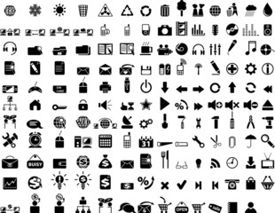 Huge icon collection. Black web icons.