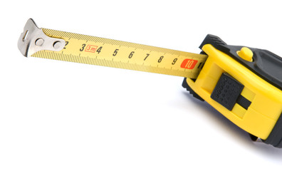 Measurement tape isolated on the white background