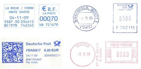 european postmarks, november 2009