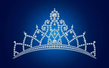Diamond tiara / vector illustrations