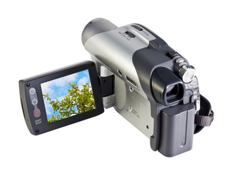 digital video camera with a landscape screen