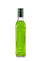 Bottle green, isolated
