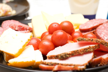 Healty breakfast plate