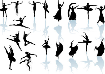 eighteen dancers with reflection