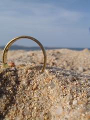 Ehering am Strand