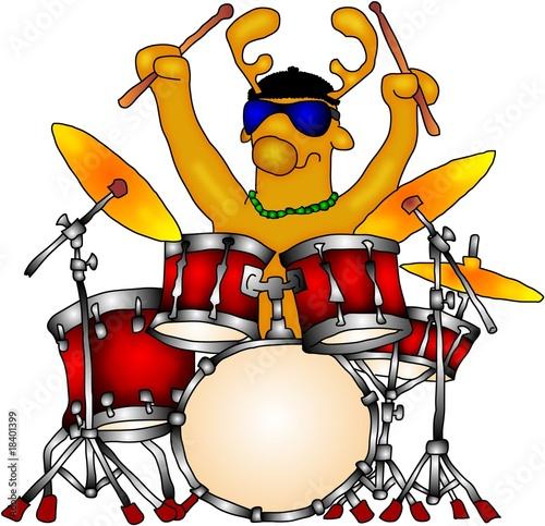 Weihnachtsmann Schlagzeug At Zavadileu Stock Photo And Royalty Free