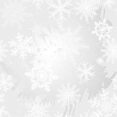 Gray snowflakes seamless texture
