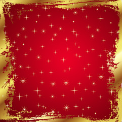 Red Card with golden border