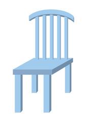 木の椅子:ブルー