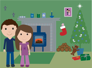 Young and in love at Christmas