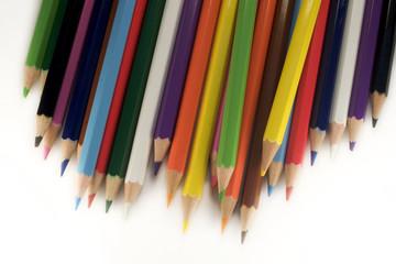 multicolor pencils on white