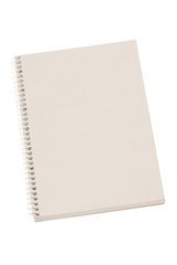 white notebook isolated